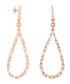 Juliet rose gold-plated pear earrings Sale - bertha Sale