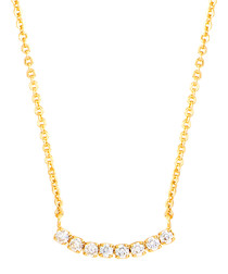 Juliet gold-plated crystal bar necklace