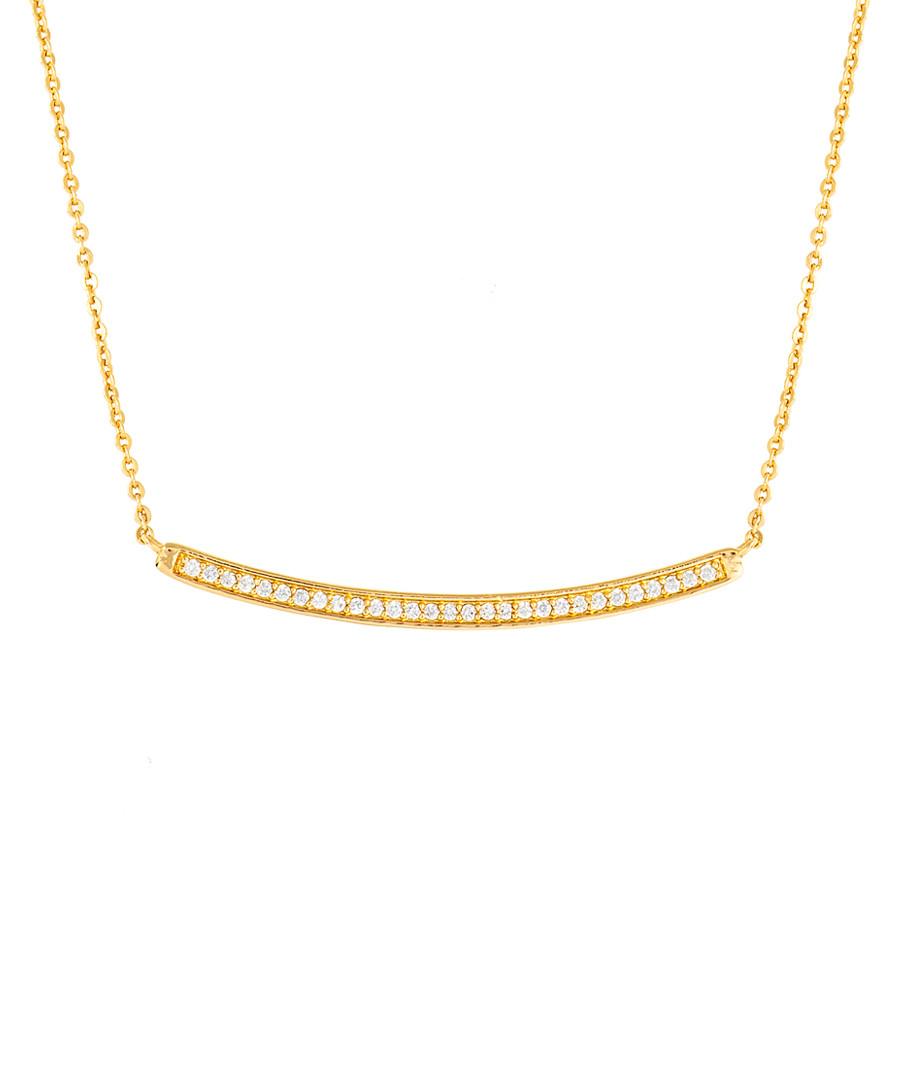 Sophia gold-plated bar necklace Sale - bertha