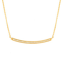 Sophia gold-plated bar necklace
