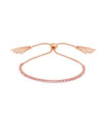 Sophia rose gold-plated slider bracelet