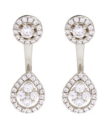 Juliet gold-plated crystal earrings