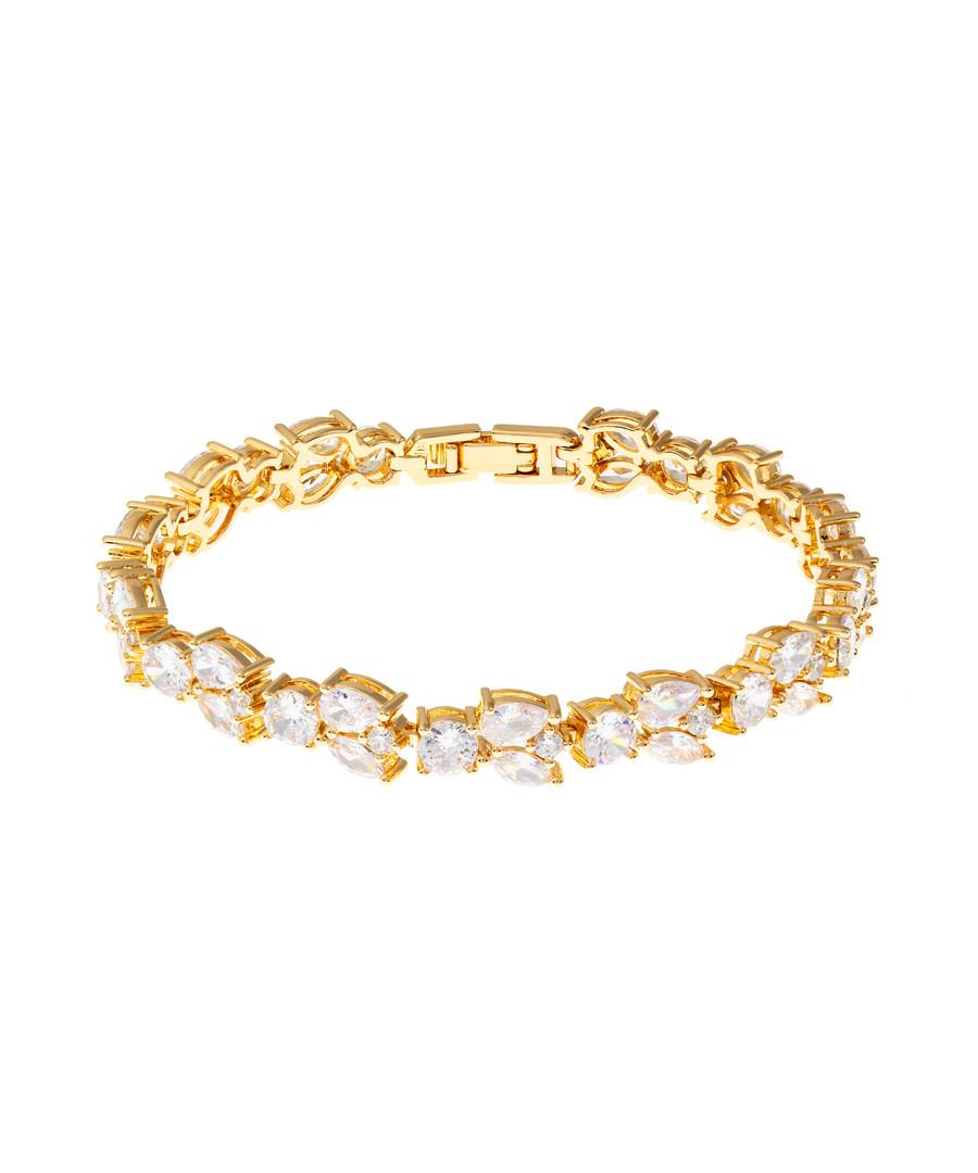 Juliet gold-plated crystal bracelet Sale - bertha