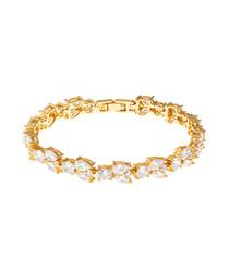 Juliet gold-plated crystal bracelet