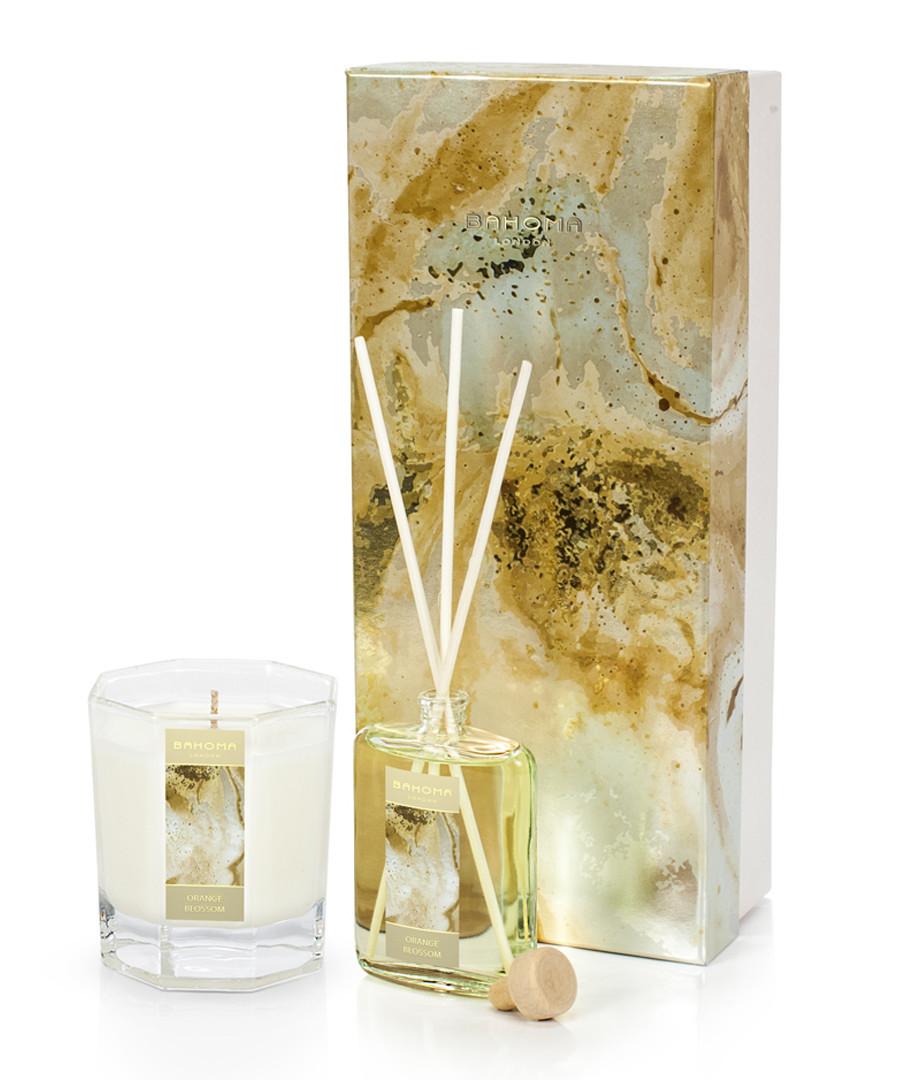 2pc Orange blossom candle & diffuser set Sale - Bahoma
