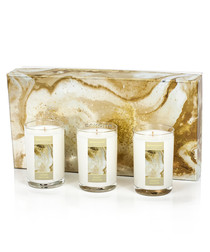 3pc orange blossom travel candle set