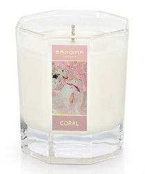 Coral large octagonal candle 55hr