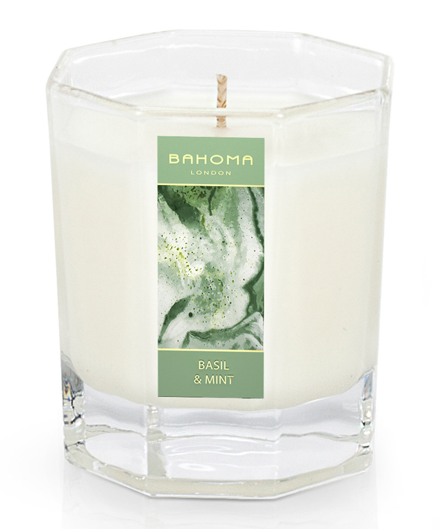 basil & mint large octagonal candle 55hr Sale - bahoma