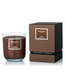 luxury amber & sandalwood gift candle