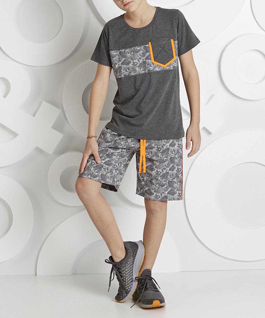 2pc Tropic Print cotton blend outfit set Sale - ollie&olla