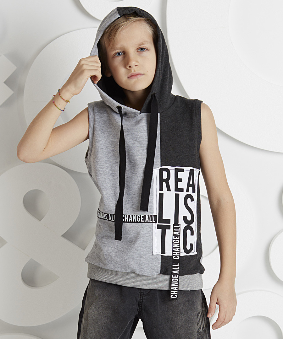 Realistic cotton blend Sleeveless Hoodie Sale - ollie&olla