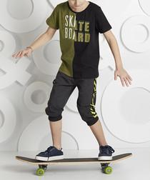 2pc Skateboard cotton blend outfit set