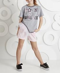 2pc Sparkle cotton blend outfit set