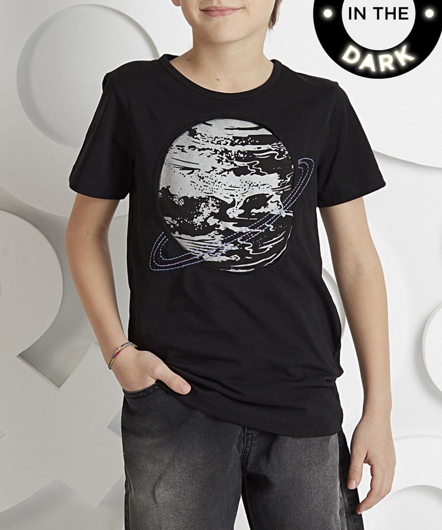 Glow-In-The-Dark black cotton T-Shirt Sale - ollie&olla