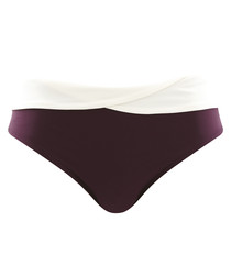 Portofino aubergine bikini briefs