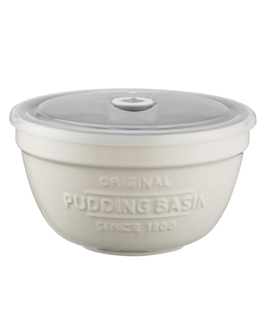 White ceramic pudding basin & lid 0.9L Sale - mason cash