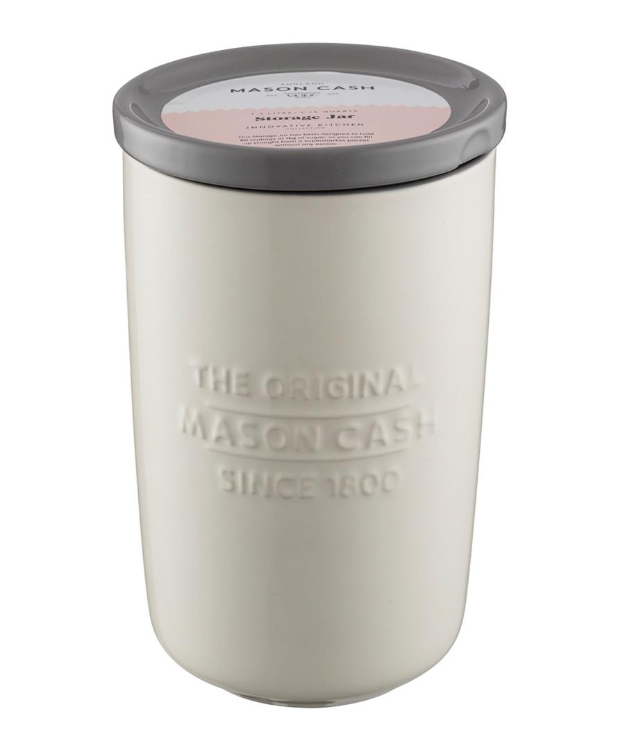 white ceramic air-tight storage jar Sale - mason cash