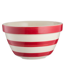 red stripe ceramic bowl 22cm