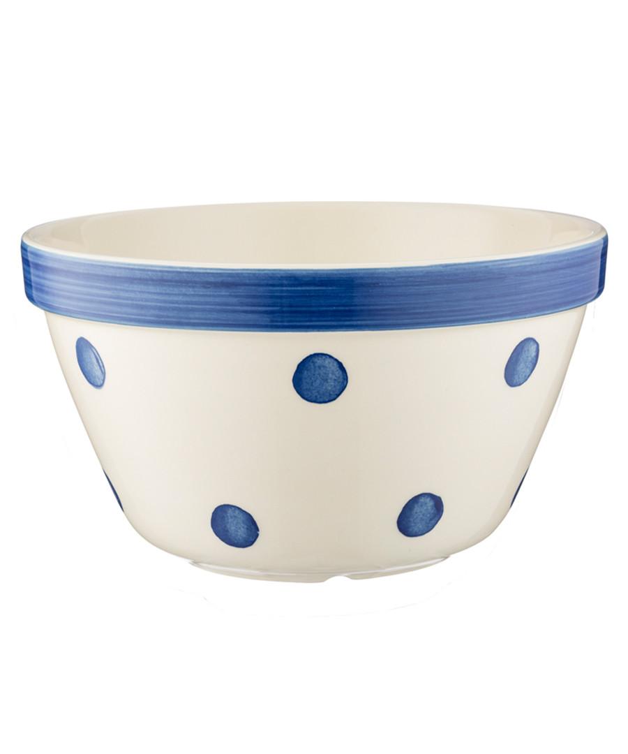 navy polka ceramic bowl 22cm Sale - mason cash