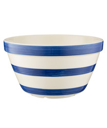 navy stripe ceramic bowl 22cm