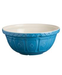 blue ceramic mixing bowl 24cm