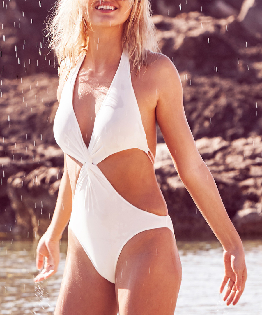 White cut-out swimsuit Sale - Fleur of England