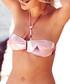 Pink paradise print bandeau bikini top Sale - Fleur of England Sale
