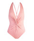 Pink cross knotted swimsuit Sale - Fleur of England Sale