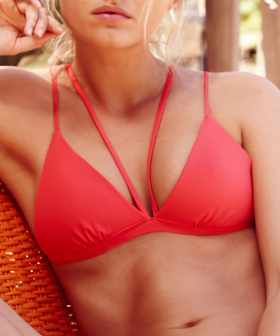 Coral triangle bikini top Sale - Fleur of England