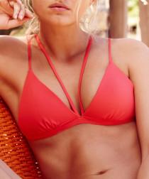 Coral triangle bikini top