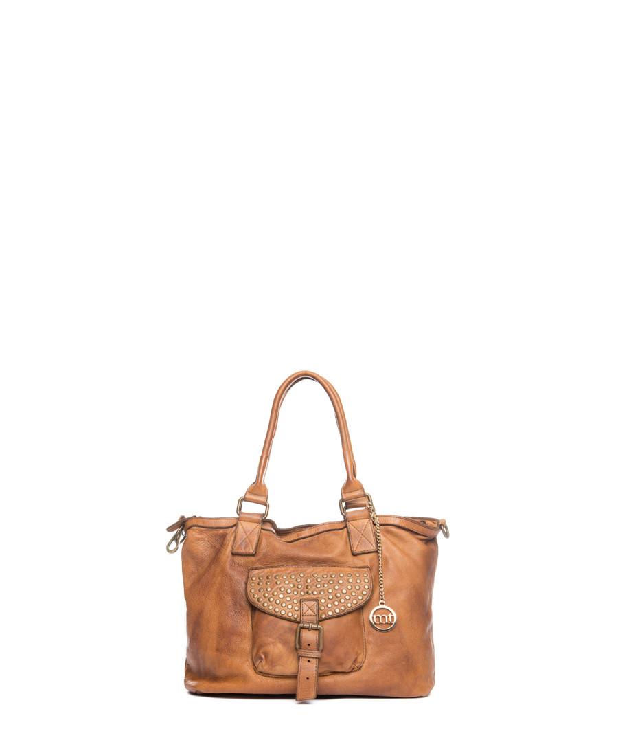 Sirio tan leather grab bag Sale - mia tomazzi