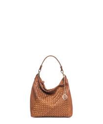 Scala tan leather shoulder bag