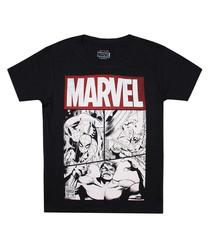 Marvel poster Black Pure Cotton T-Shirt