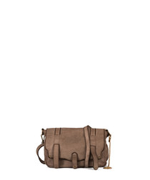 Cinisello taupe leather satchel