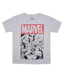 Marvel poster grey Cotton T-Shirt