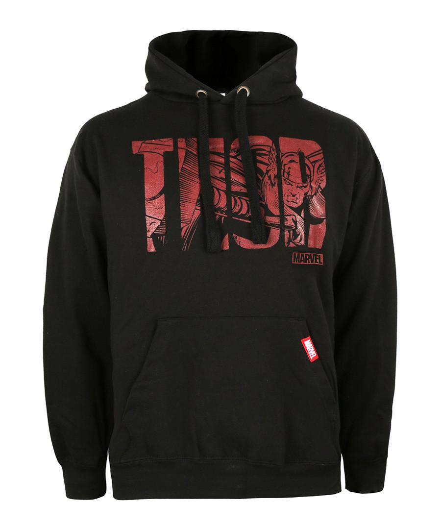 thor black cotton blend hoodie Sale - marvel