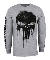 Punisher grey cotton long sleeve shirt