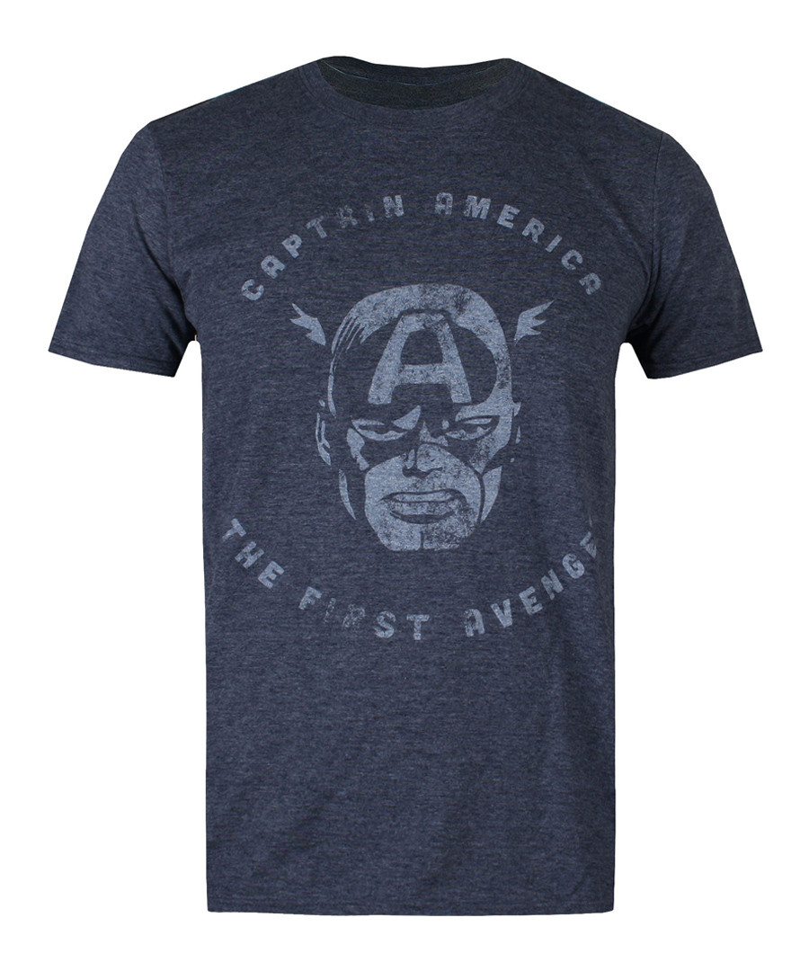 captain navy cotton blend T-shirt Sale - marvel