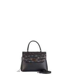 Civica black leather grab bag