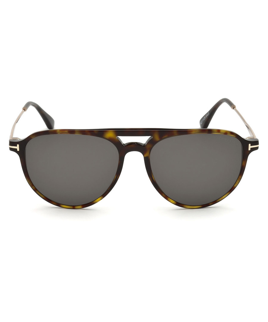 Carlo-02 dark Havana mirror sunglasses Sale - Tom Ford