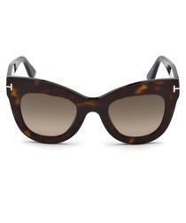 Karina brown Havana thick-rim sunglasses