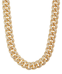 18k gold-plated steel chain necklace
