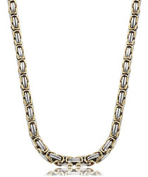 Duo-plated steel link necklace