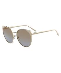 Gold-tone rimmed sunglasses
