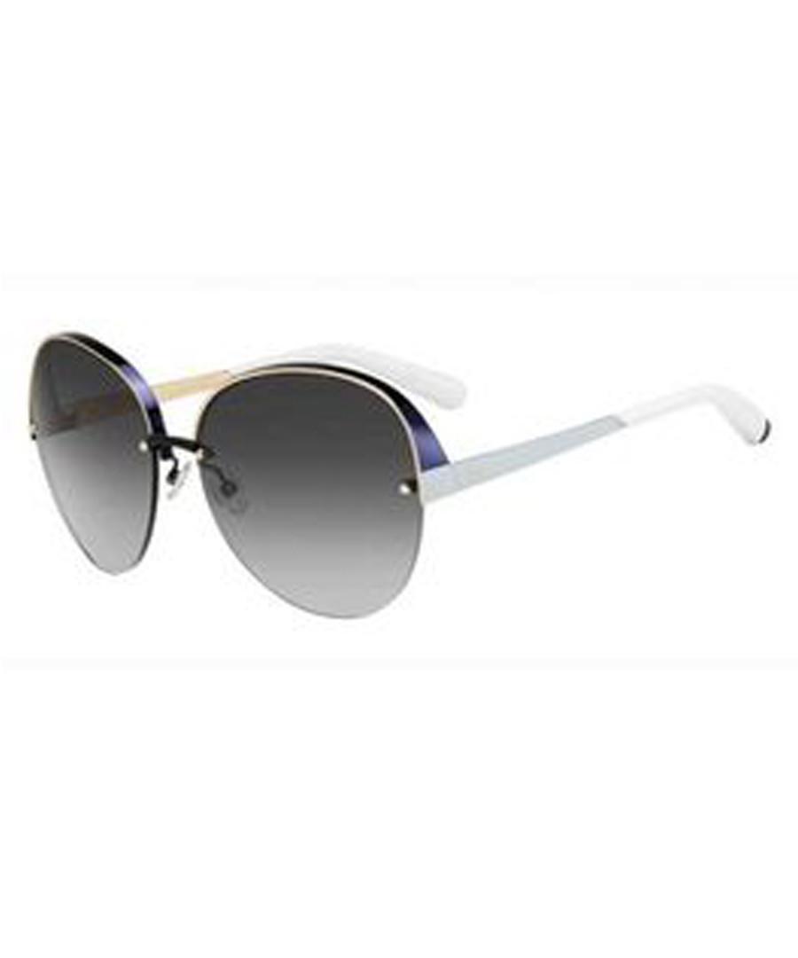White & grey oversized sunglasses Sale - dior