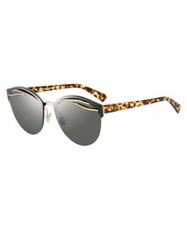 Gold-tone patterned sunglasses