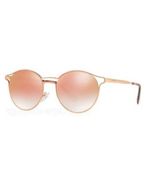 Pink round mirror sunglasses