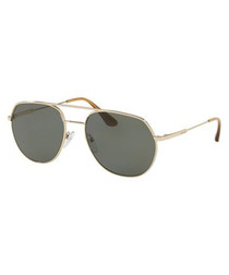 Gold-tone double-bridge sunglasses
