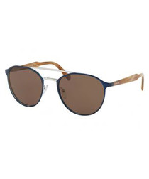 Blue & brown sunglasses