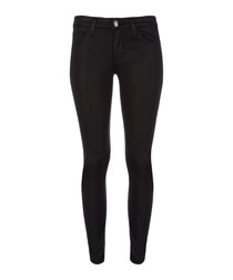 The Stiletto coated cotton skinny jeans